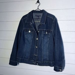 Stretchy Denim Jean Jacket Baccini Plus Size